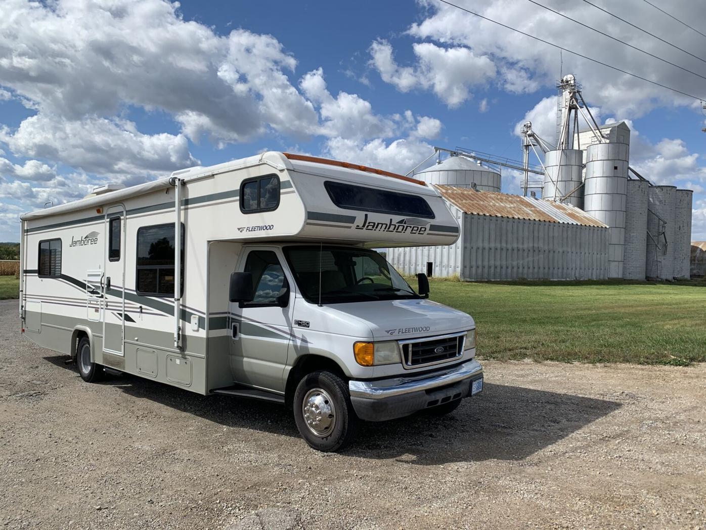 Michelle Fishburne and her RV in Nebraska