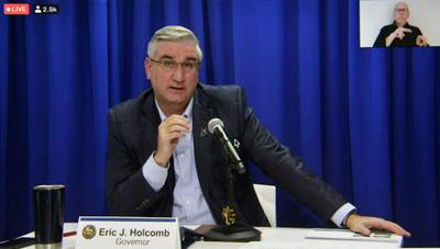 Holcomb denies pandemic decisions are influenced by politics after winning re-election