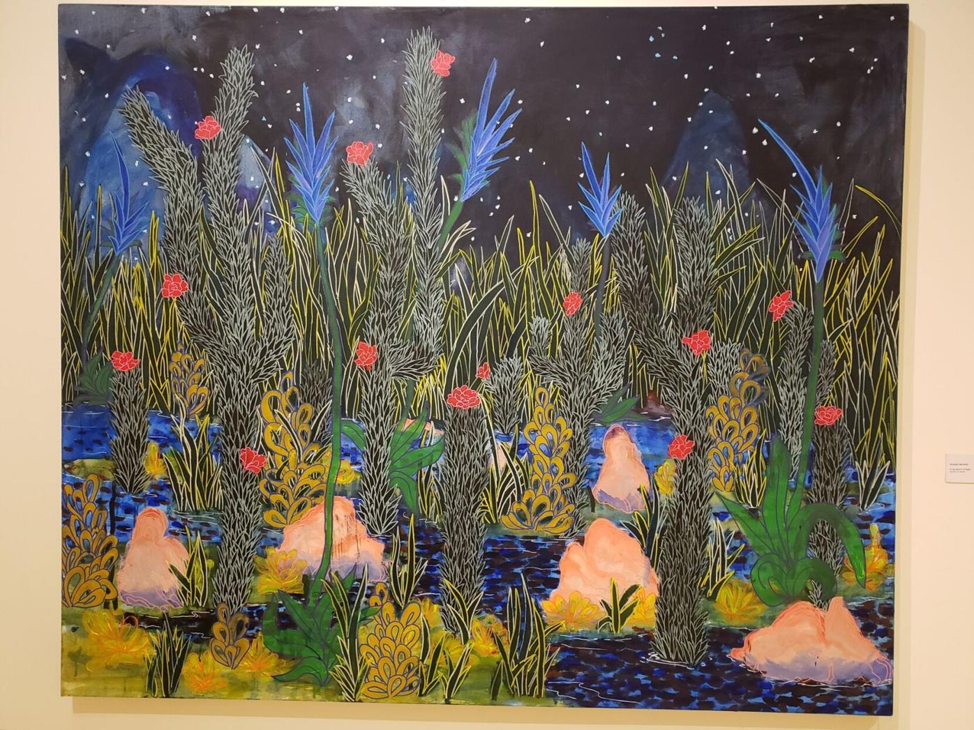 """Desert at Night"" by Graham Marshall (acrylic on canvas)"