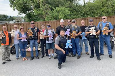 American Legion Riders donates Teddy bears to Strasburg Police Department