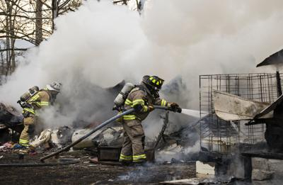 Three left homeless in Woodstock area trailer fire