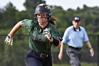 Hitting their stride: Hawks playing best softball of season entering state quarterfinal game vs. Indians
