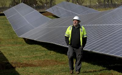 Town's solar power field nears completion | Front Royal
