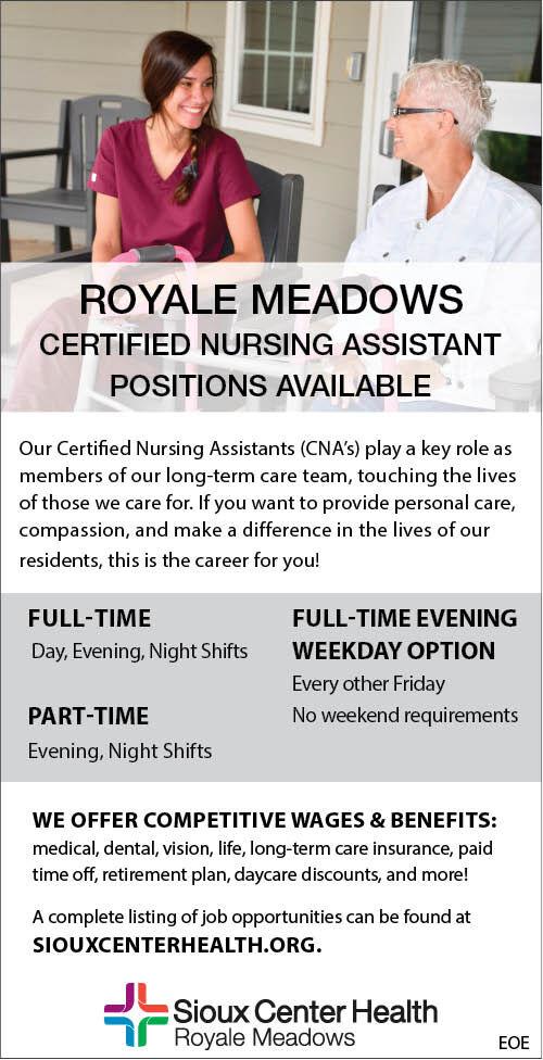 Royal Meadows CNA at Sioux Center Health