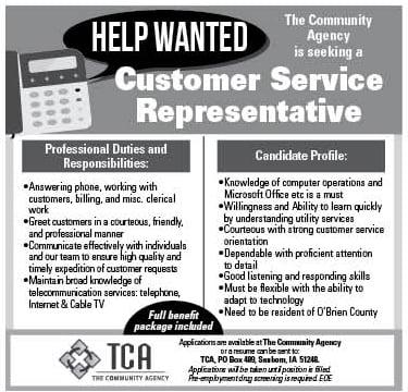 Customer Service Representative at TCA