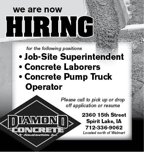 Positions at Diamond Concrete
