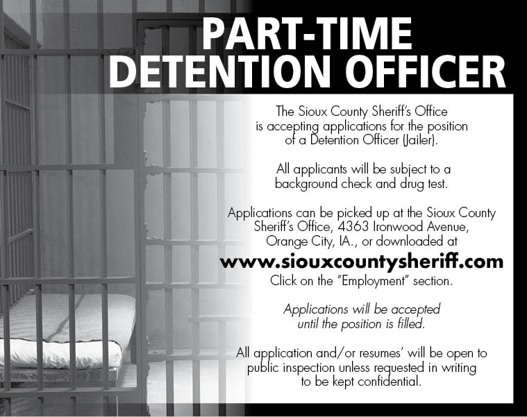 Detention Officer at Sioux County Sheriff