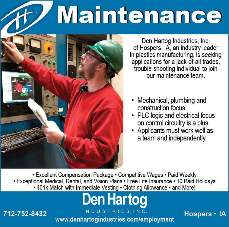 Maintenance at Den Hartog