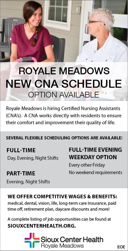 CNA at Sioux Center Health