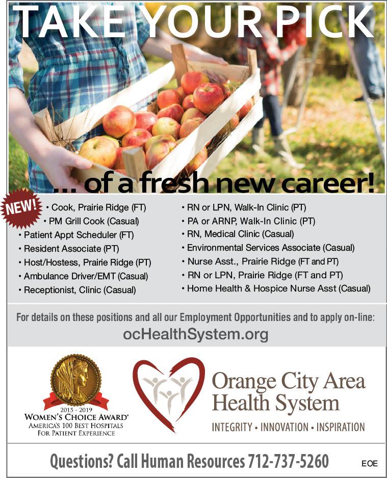 Positions at Orange City Area Health
