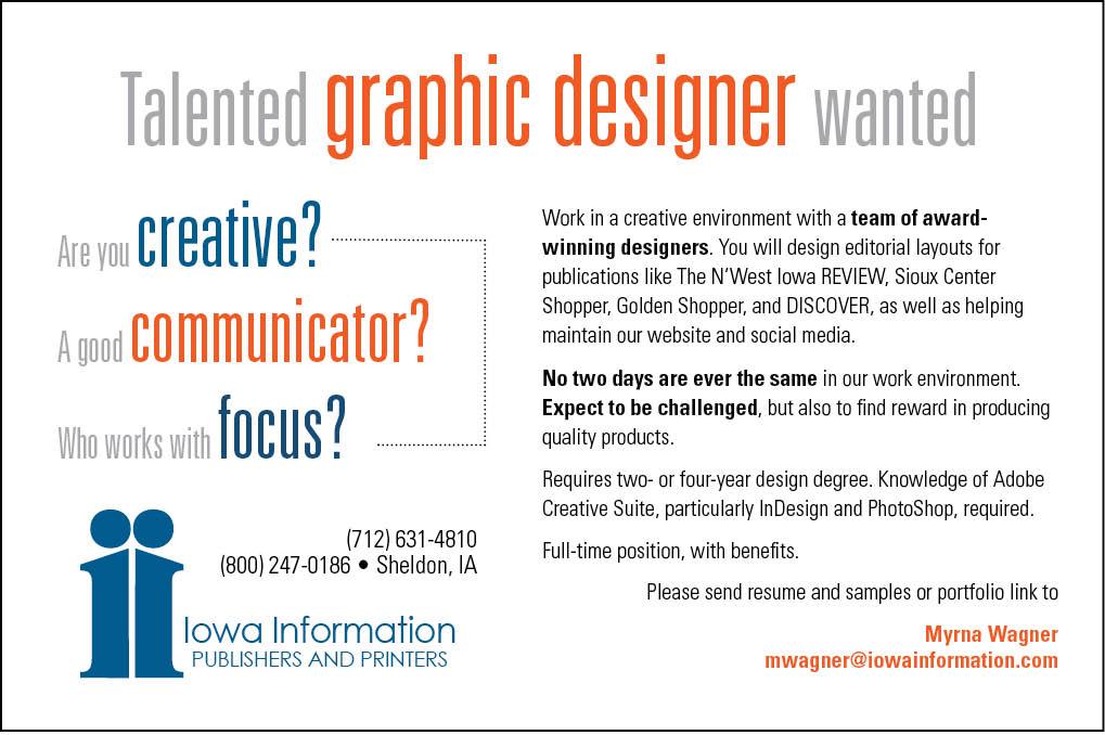 Graphic Designer at Iowa Information