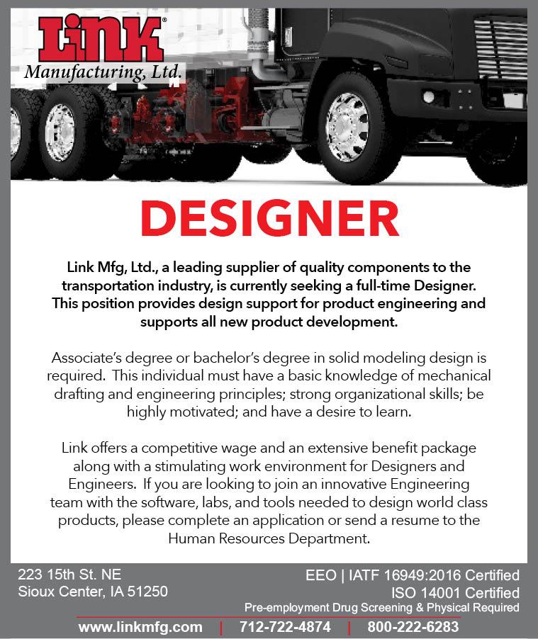 Designer at Link Manufacturing