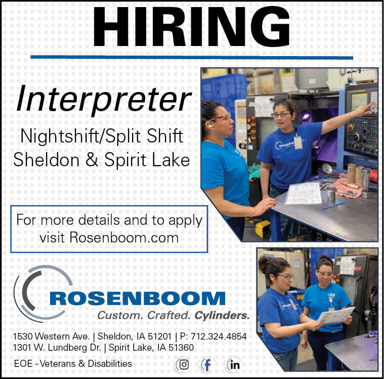 Interpreter at Rosenboom Machine