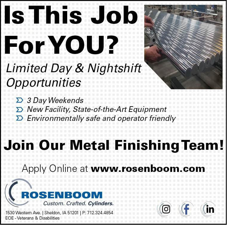 Metal Finishing at Rosenboom Machine