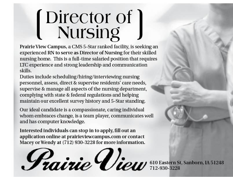 Director of Nursing at Prairie View