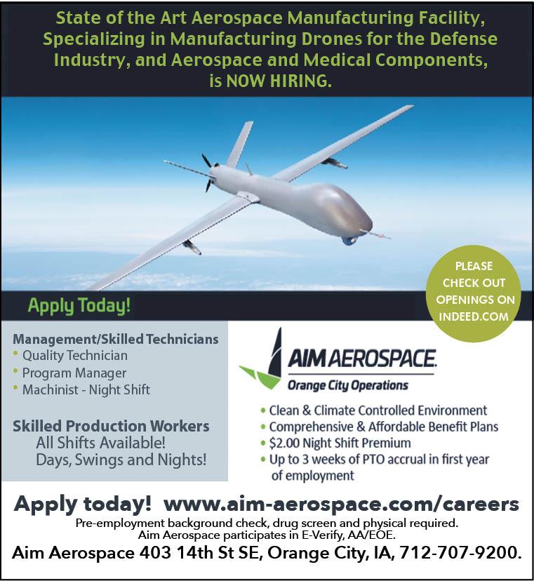 Positions at AIM Aerospace
