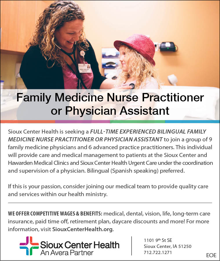 Family Medicine Nurse Practitioner at Sioux Center Health