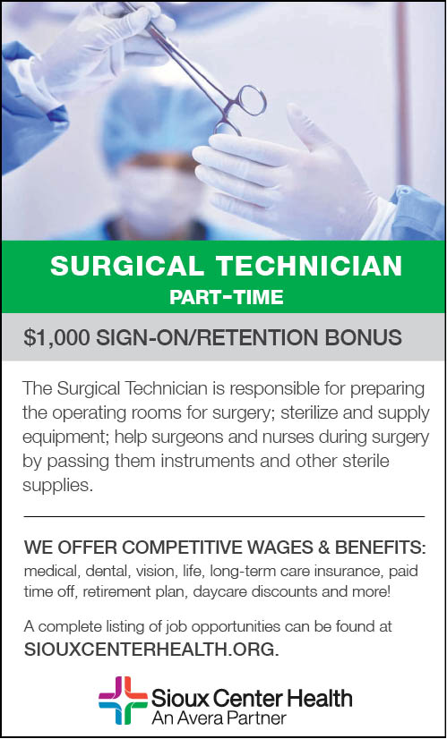 Surgical Tech at Sioux Center Health
