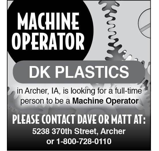 Machine Operator at DK Plastics