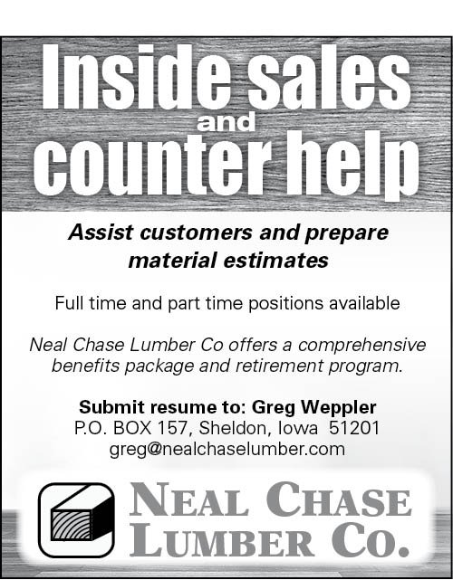 Positions at Neal Chase Lumber