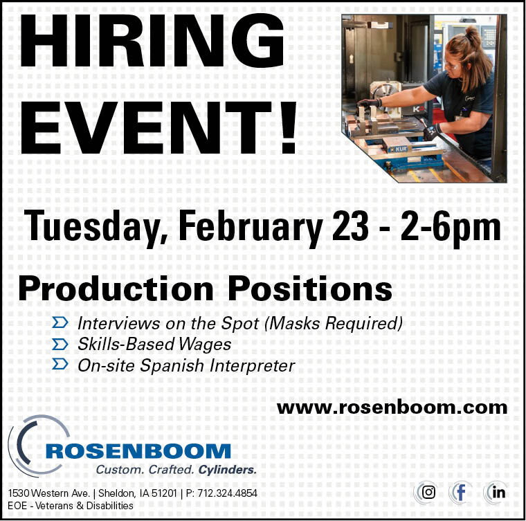 Hiring Fair at Rosenboom Machine
