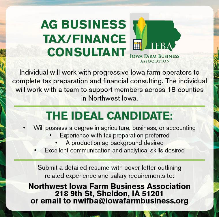 Ag Business Tax/Finance Consultant at Iowa Farm Business Association