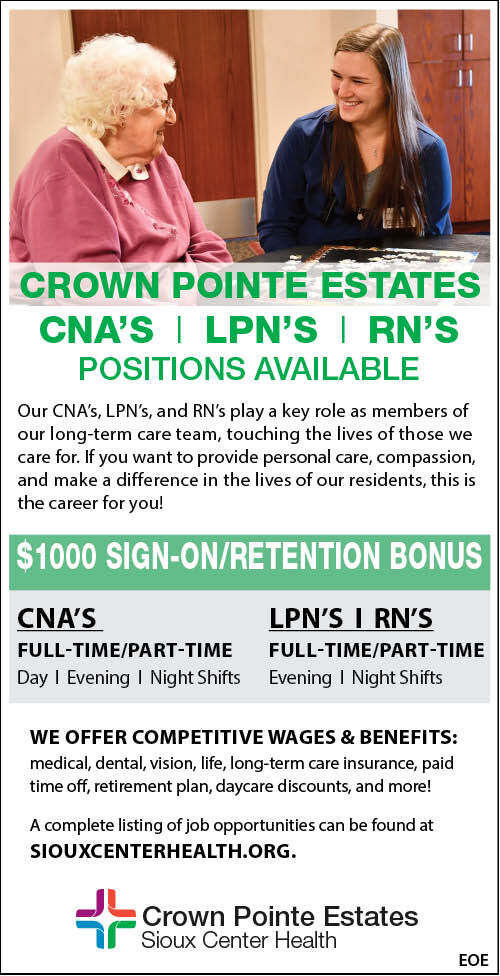 Crown Pointe Estates at Sioux Center Health