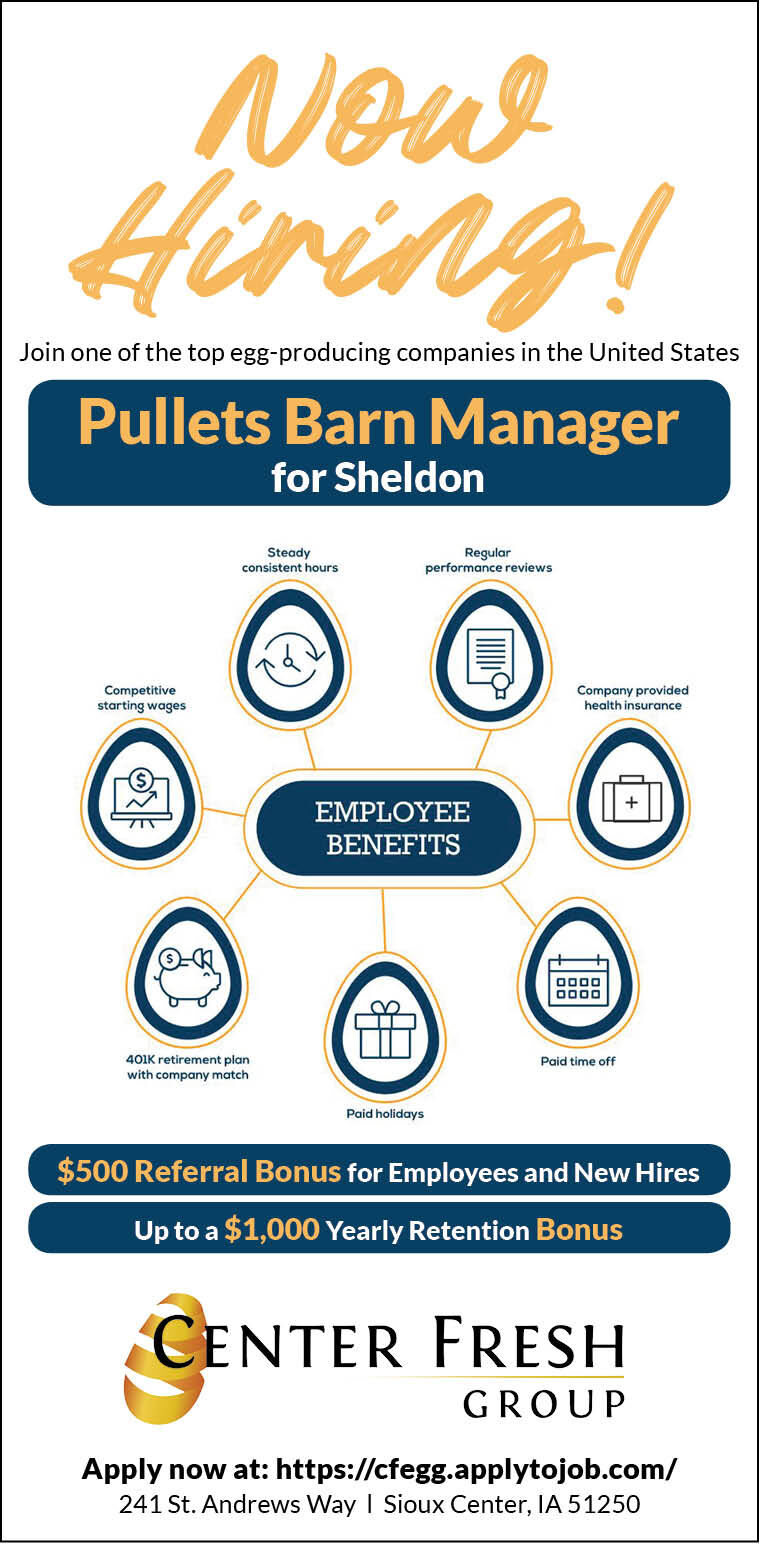 Pullets Barn Manager at Center Fresh