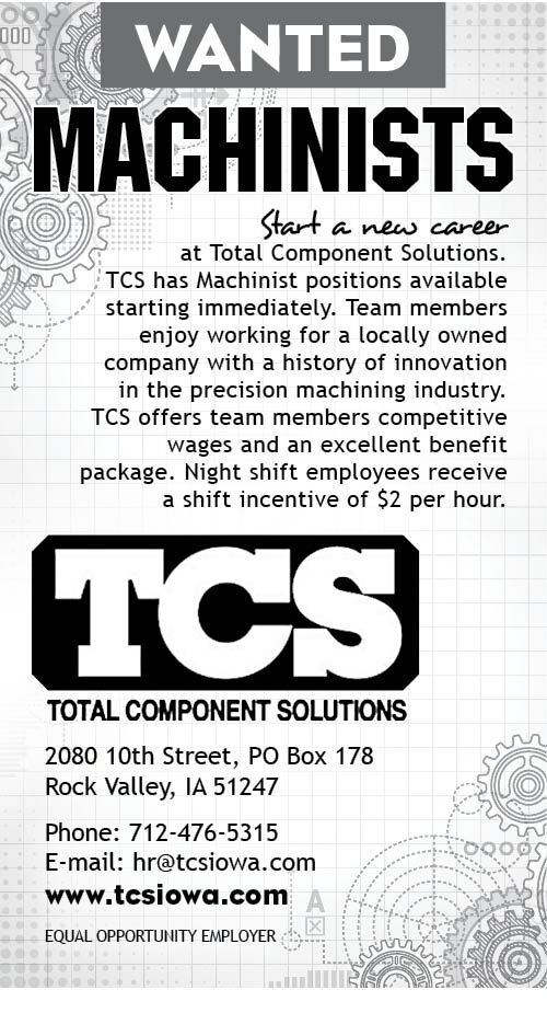 Machinists at Total Component Solutions