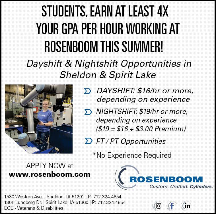 Summer Temp at Rosenboom