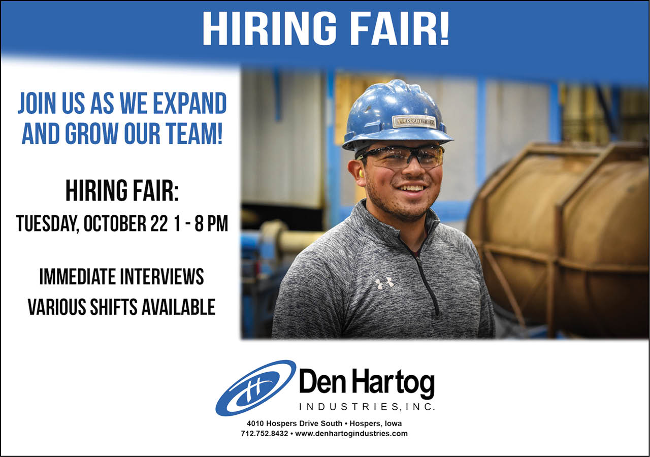 Hiring Fair at Den Hartog Industries