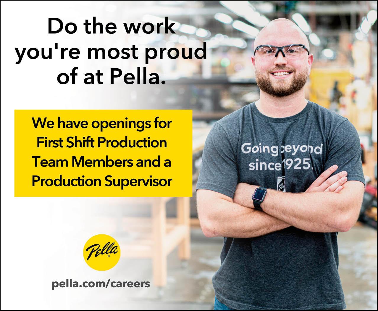 Production & Production Supervisor at Pella