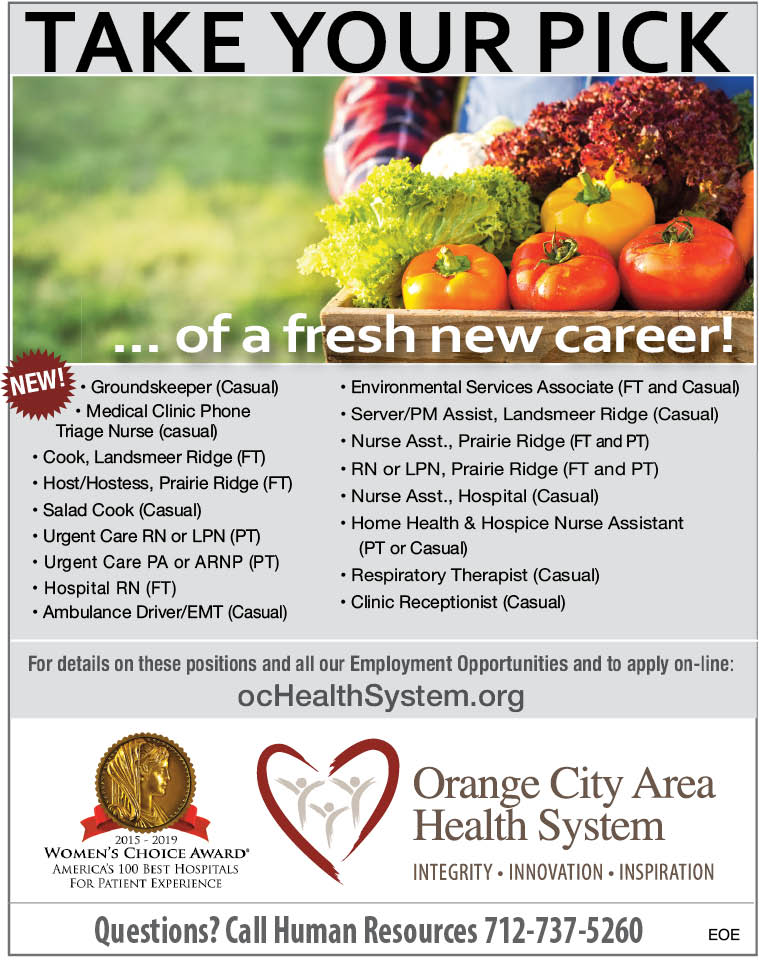 Take your Pick at Orange City Area Health System