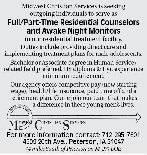 Help Wanted at Midwest Christian Services
