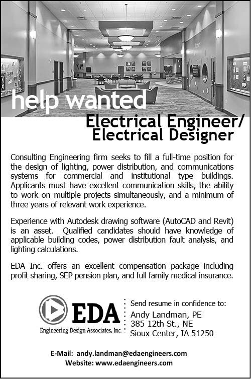 Electrical Engineer/Designer at Engineering Design Associates, Inc.