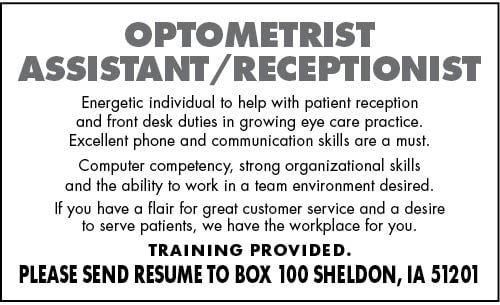Optometrist Assistant/Receptionist at Eyecare Center
