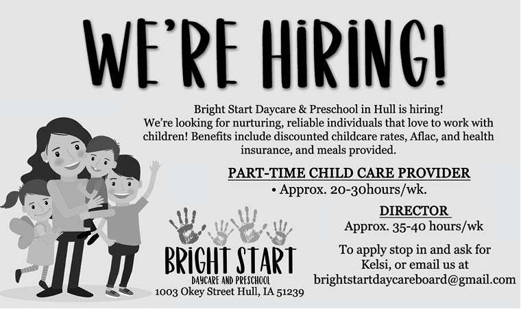 Positions at Bright Start Daycare