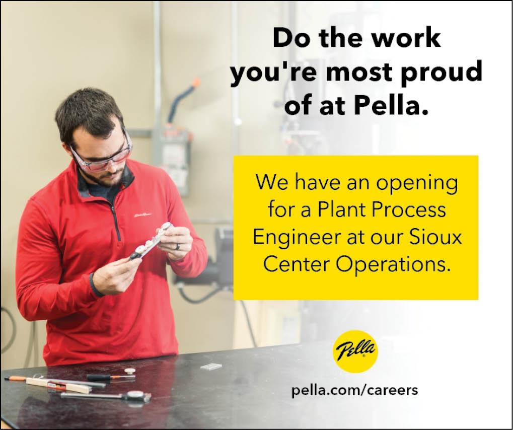 Plant Process Engineer at Pella