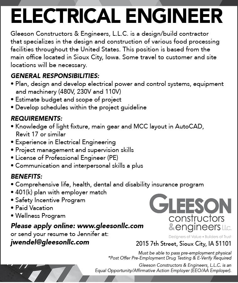 Electrical Engineer at Gleeson