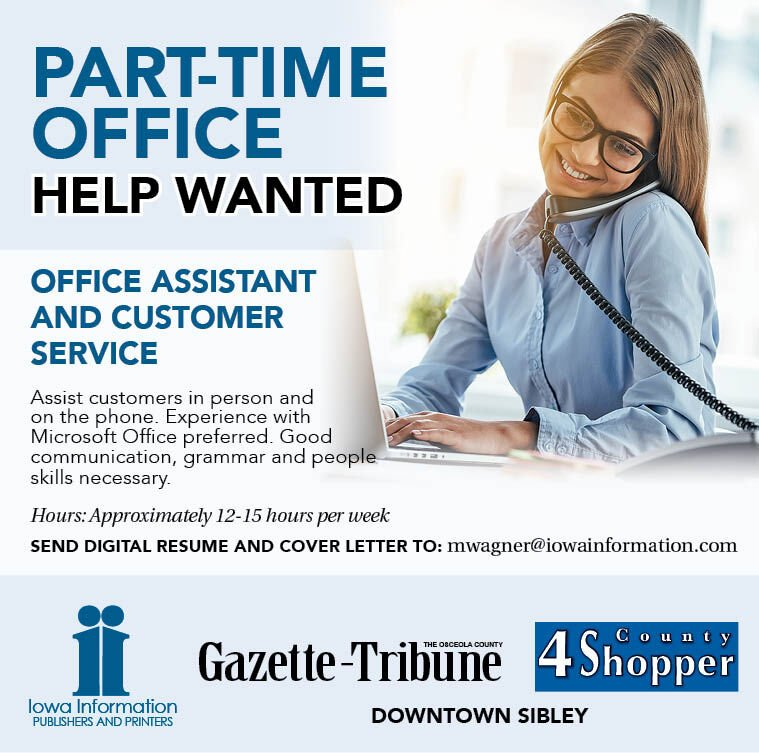 Part-Time Office Assistant at Iowa Information Publications