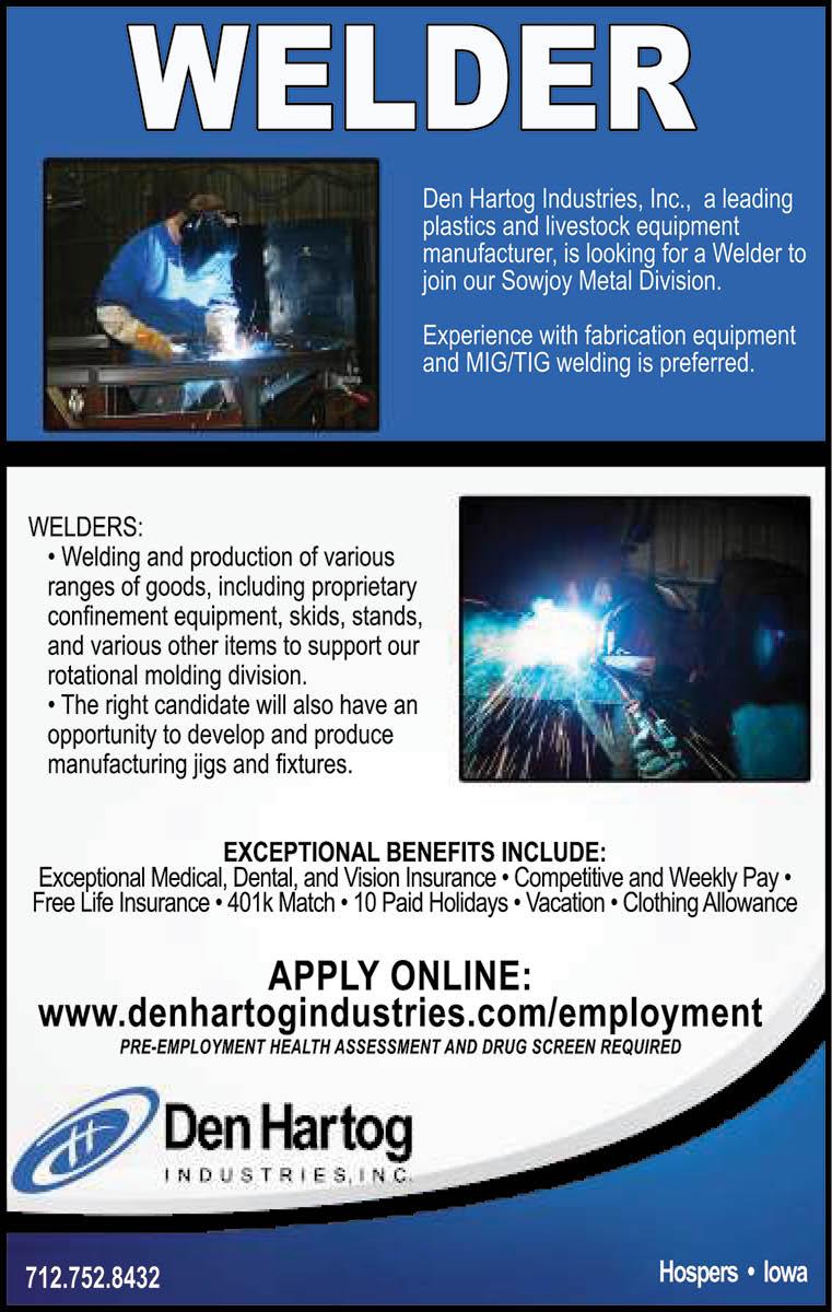 Welder at Den Hartog Industries