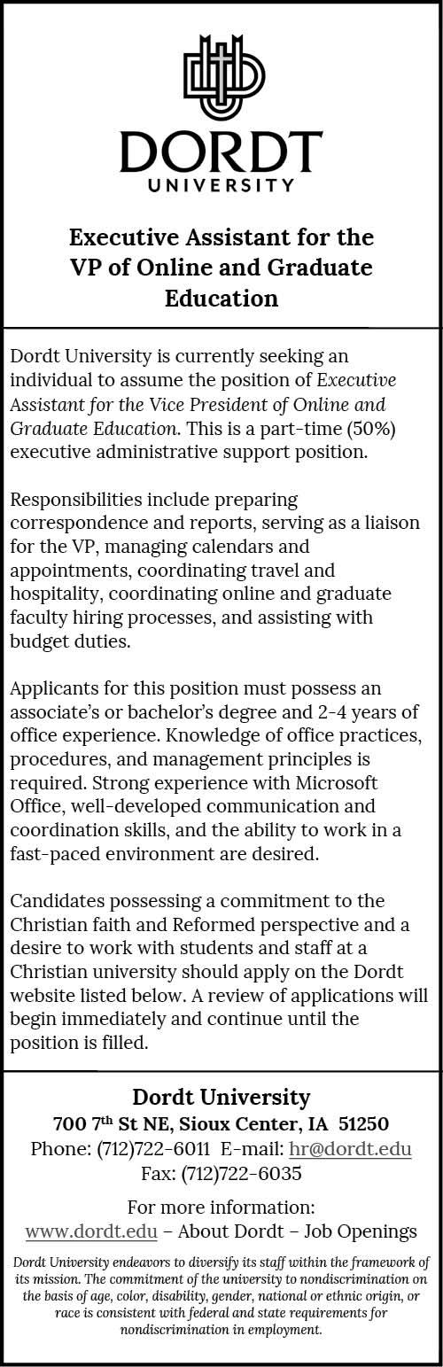 Executive Assistant at Dordt University