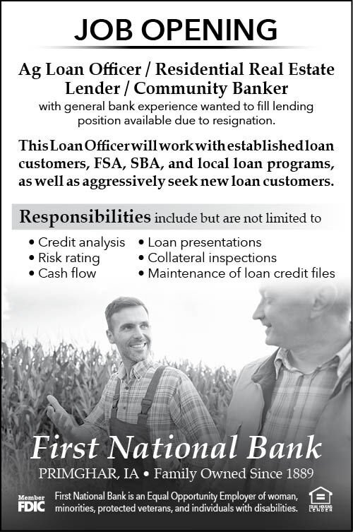 Ag Loan Officer at First National Bank