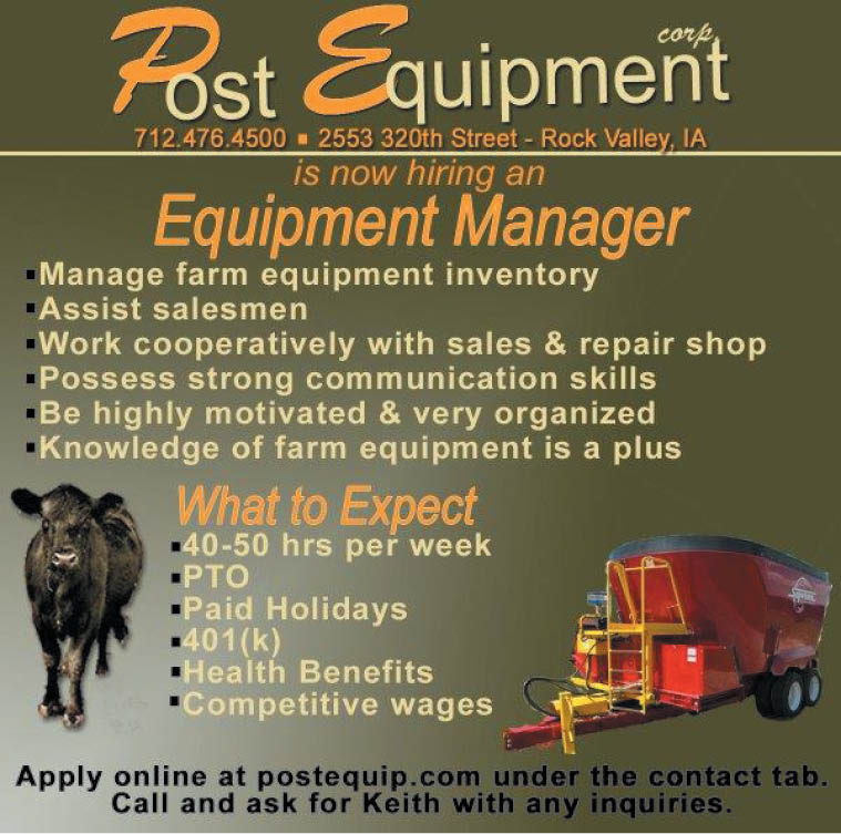 Post Equipment Equipment Manager