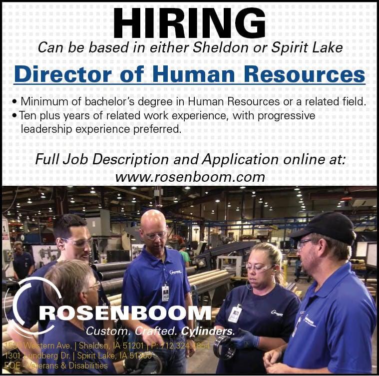 Director of Human Resources at Rosenboom