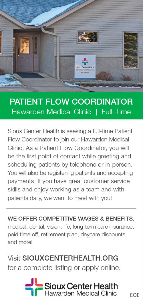 Patient Flow Coordinator at Sioux Center Health
