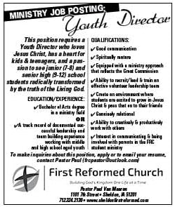 Youth Director at First Reformed Church