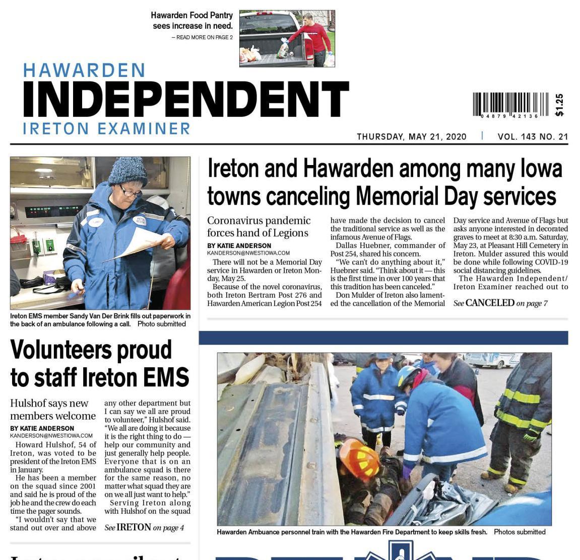 Hawarden Independent/Ireton Examiner MAY 21, 2020
