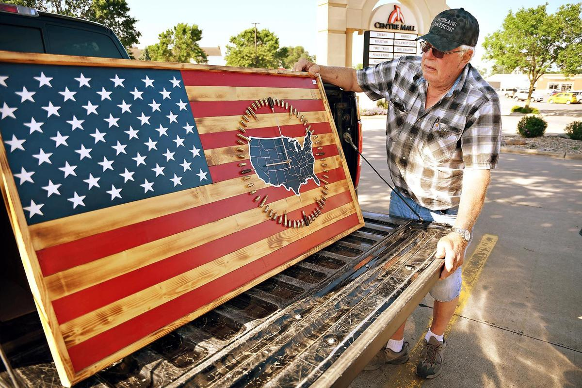 Keizer turns pine wood into American flags