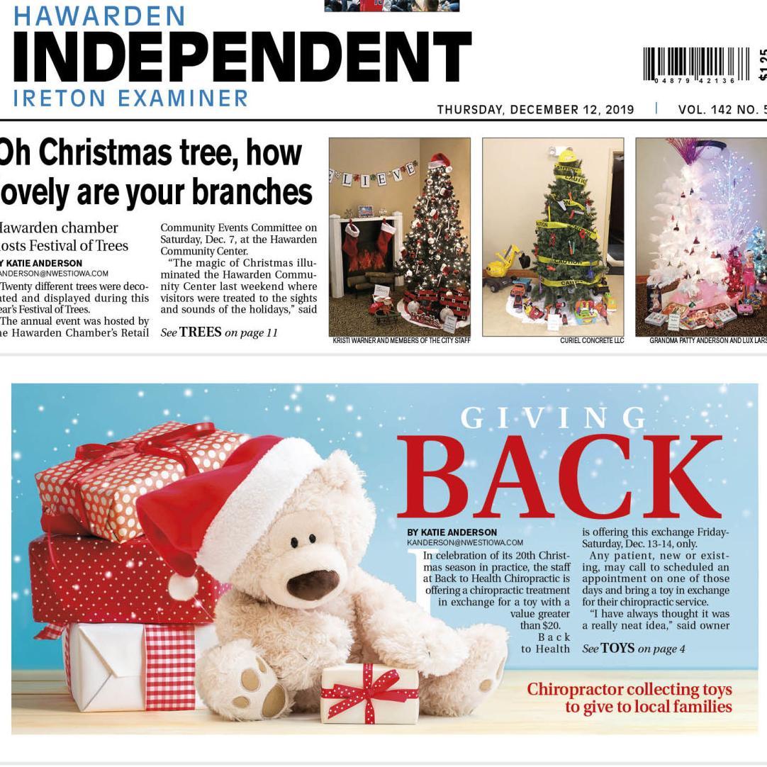Hawarden Independent/Ireton Examiner Dec. 12, 2019